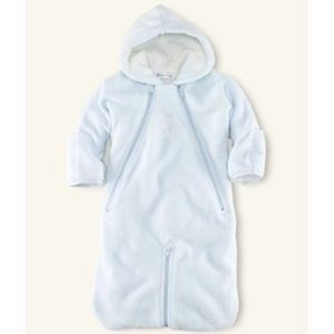 Ralph Lauren Layette Convertible Fleece Bunting